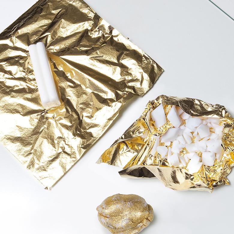 ComprarFimo.pt colar Fimo com folha metal material